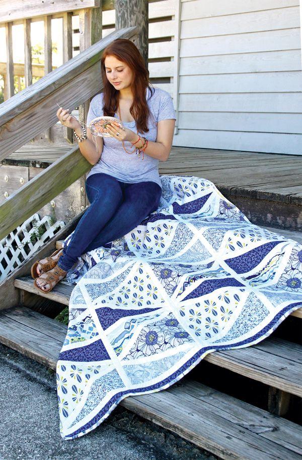 Graphite Quilt Kit #ArtGalleryFabrics #Sew #Stitch #Thread #Kit #DIY #Design #Craft #HowTo #Makeit #Quilt #Fashion
