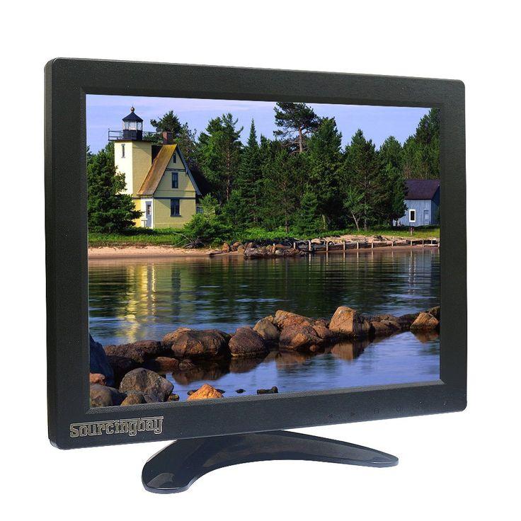 10.1 inch TFT LCD Monitor, Sourcingbay Mini CCTV Monitor with AV/HDMI/BNC/VGA Input, 800x600, Free BNC Cable