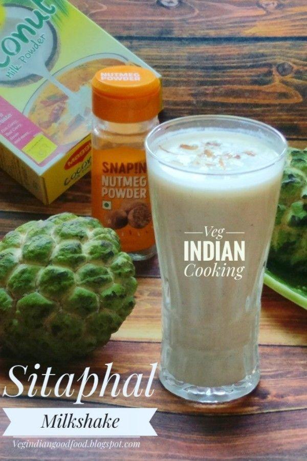 Sitaphal Milkshake Coconut Milkshake Recipe Coconut Milkshake