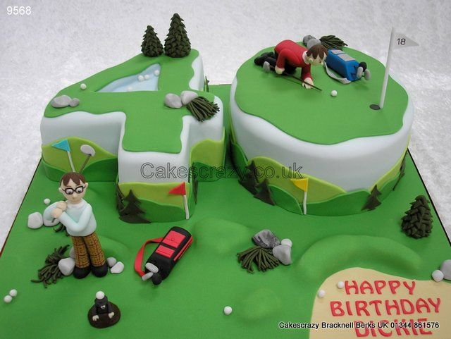 Number 40 Fun Golfing Cake http://www.cakescrazy.co.uk/details/number-40-fun-themed-golfing-cake-9568.html