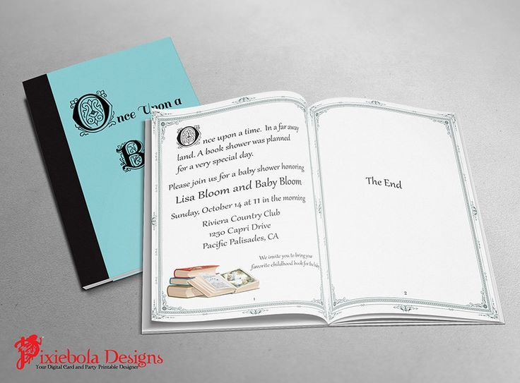 19 best book shower invitations images on pinterest book shower book themed baby shower invitations book themed baby shower invitation by pixieboladesigns filmwisefo