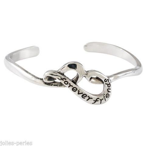 JP 1PC European American Minimalist Hollow Alphabet Bracelet Jewelry Bangles