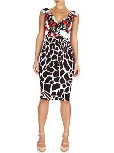Leora Printed Wrap Dress