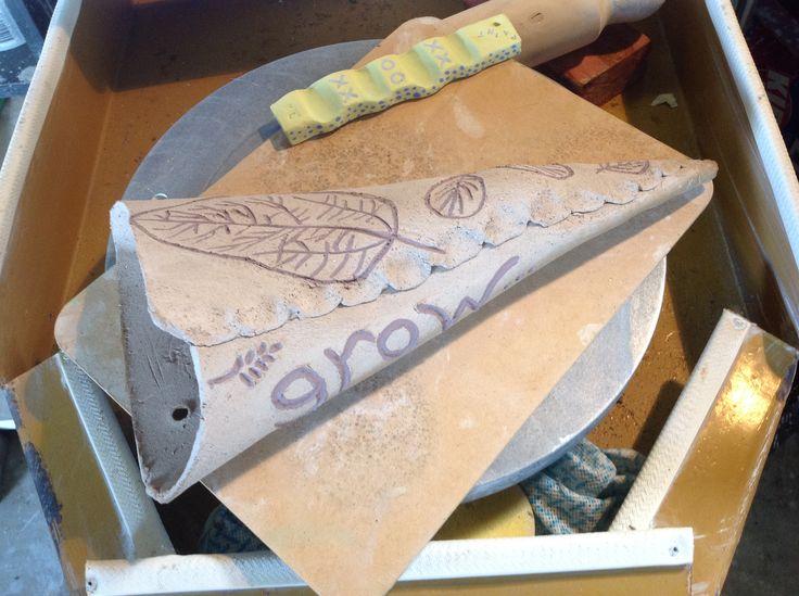 Handmade pottery plant holder