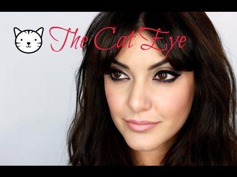 ▶ Easy CAT EYE inspired by Brigitte Bardot, Sophia Loren, Elizabeth Taylor - YouTube