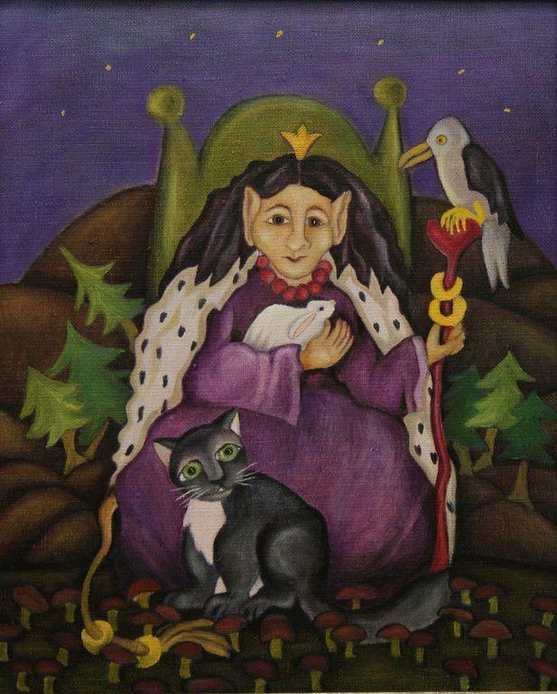 Sonja Lehto, naivistisia maalauksia  peikkoprinsessa