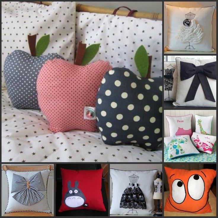 Оригинальные и очень милые подушки.