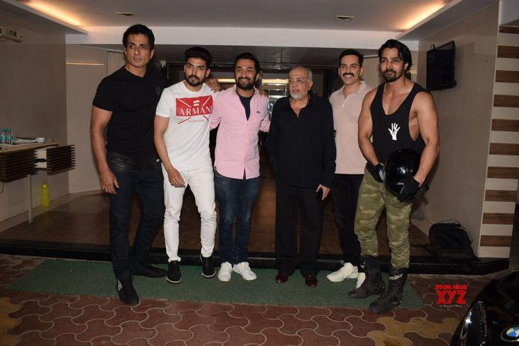 "Mumbai: Wrap up party of film ""Paltan"" Sonu Sood, Siddhanth Kapoor, Gurmeet Choudhary, Luv Sinha, Harshvardhan Rane and J.P. Dutta #Paltan - Social News XYZ"