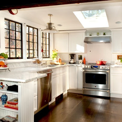 Traditional kitchen small kitchens design ideas pictures remodel and decor home ideas - Small kitchen windows ...