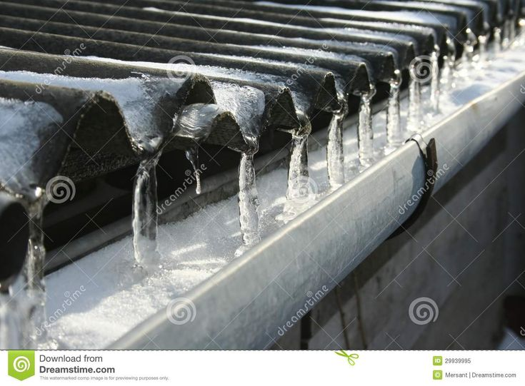 Some icicles on a roof