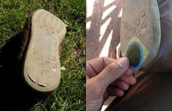 Réparer les semelles usées des chaussures