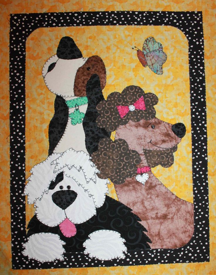 Dogs Quilted Wall Hanging