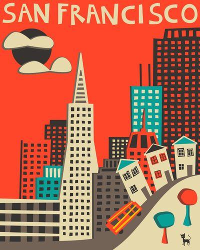 297 best San Francisco Illustrations Street Art images on