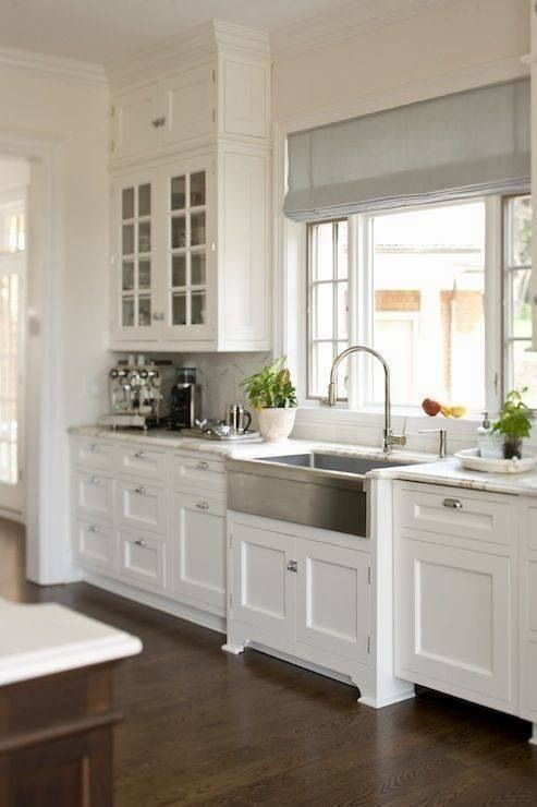 antique white kitchen cabinets are used so that the kitchen would look bigger as well as neatly on r kitchen cabinets id=30513