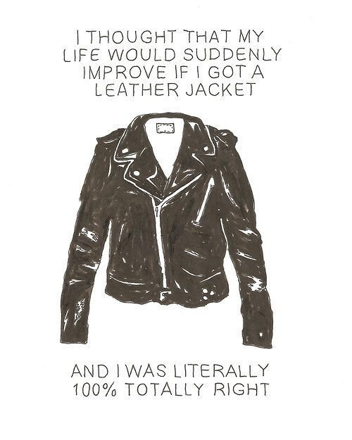 Leather jack making life better. That would be awesome!! :D