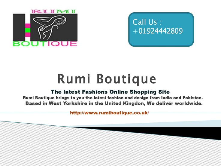 Rumi Boutique| Indian Clothes Delivered