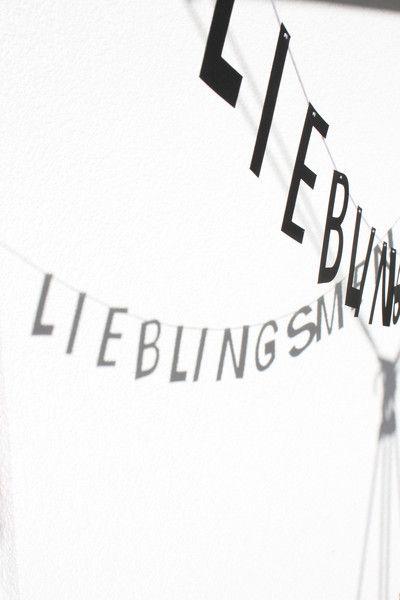 Lieblingsmensch+/+Girlande+/+Liebe+/+Valentin+von+Jippiebird+auf+DaWanda.com