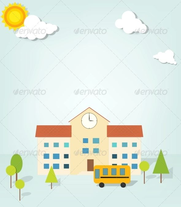 Vector School #GraphicRiver vector school. EPS10. Contains transparent objects used for shadows drawing. Created: 15October13 GraphicsFilesIncluded: JPGImage #VectorEPS Layered: No MinimumAdobeCSVersion: CS3 Tags: art #building #bus #cartoon #cloud #cute #driver #education #elementary #illustration #journey #kindergarten #paper #preschool #school #schoolbus #simple #student #sun #transport #transportation #tree #trip #vector #vehicle #yellow #young