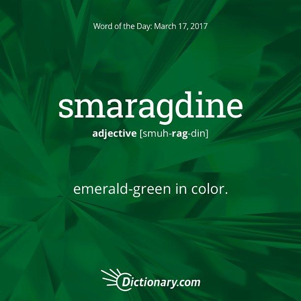 smaragdine. #wordoftheday #language #vocabulary…""