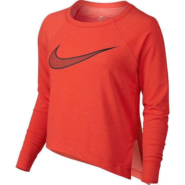 Women's Nike Training Cropped Top, Size: Medium, Orange Oth