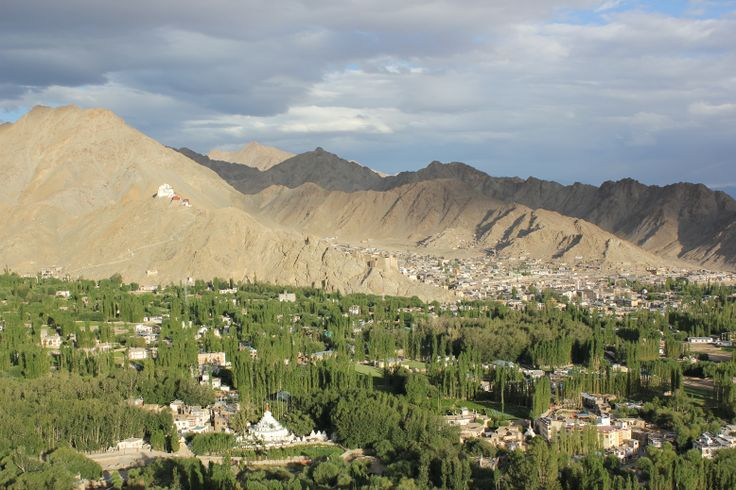 The city of Leh, Ladakh, India