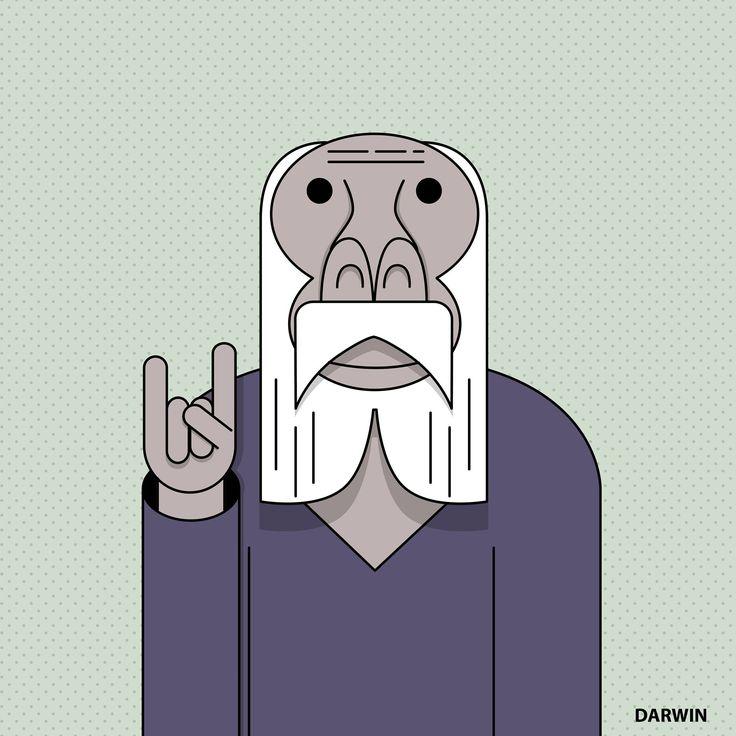 Angelo Petito - #DarwinDay - illustration - Masonry / Massoneria Creativa - www.massoneriacreativa.com