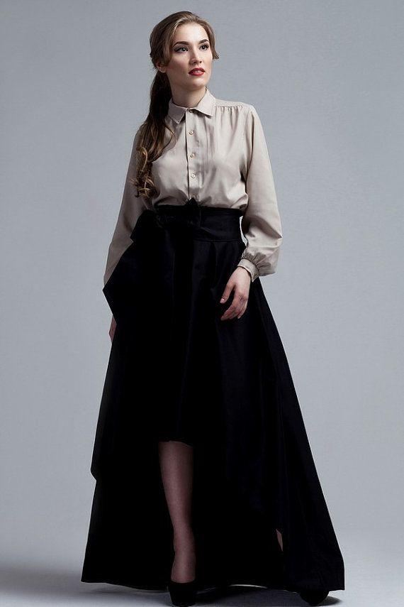 Black Long Maxi skirt/ Black skirt/ Black Elegant от PlayFashion