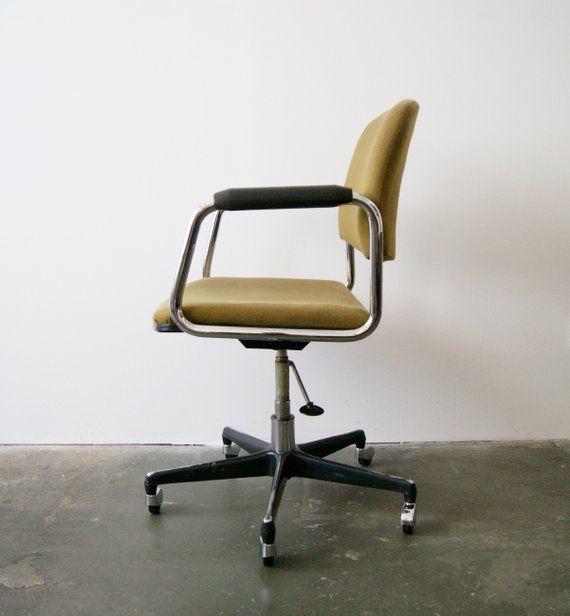 Architect Chair Green Mid Century Office Chair Desk Chair Work Chair Armchair Schreibtischstuhl Stuhl Grun Burostuhl