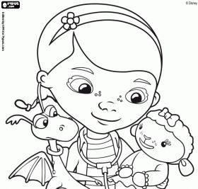 168 best images about Doc McStuffins Party on Pinterest  Coloring