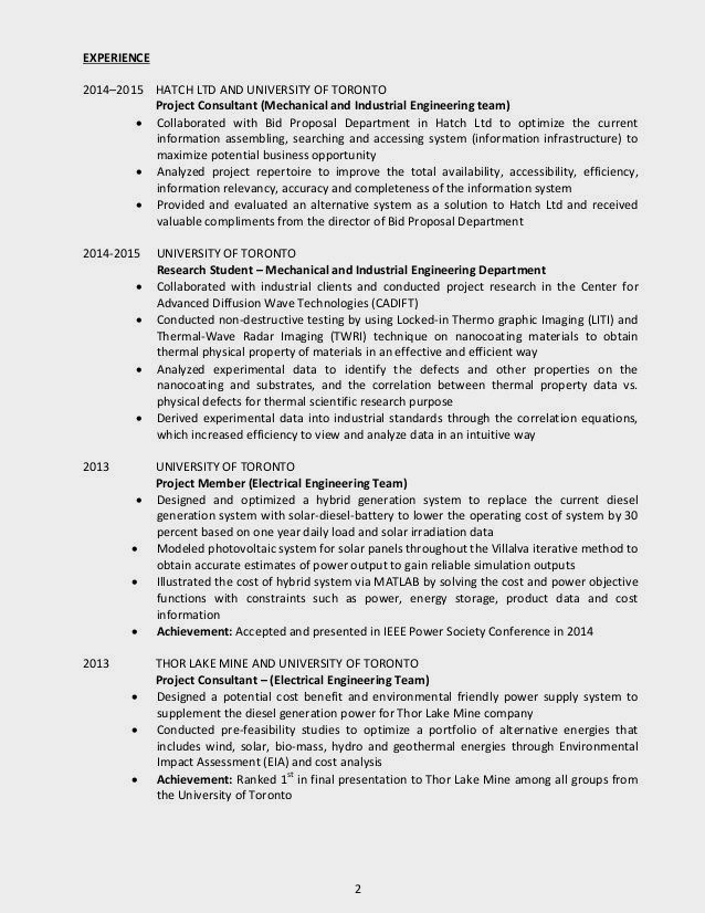 U Of T Good resume examples, Resume examples, Resume