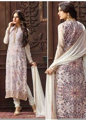 Festival Wear Off White Jacquard Salwar Suit  - 74751