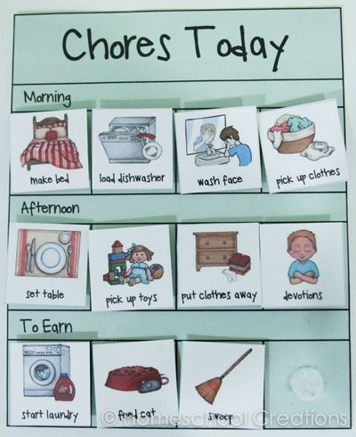 Preschool chore charts with pictures-2
