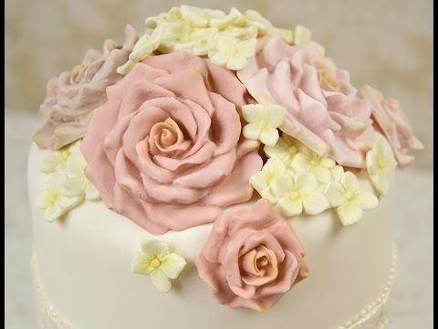 Karen Davies Cake Decorating Moulds / Molds - free beginners tutorial / how to - Roses - YouTube