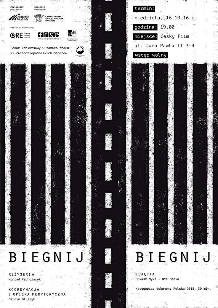 """W najbliższą niedzielę, tj. 16 października, o godz. 19:00 w szczecińskim multitapie Český film odbędzie się pokaz najnowszego filmu dokumentalnego pt. """"Biegnij, biegnij"""" nagranegoprzy…"""