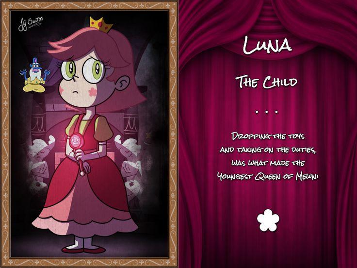 Luna. La niña. Dejar caer los juguetes y asumir los deberes fue lo que la hizo la reina mas joven de mewni.
