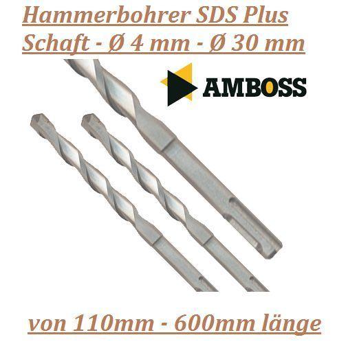 Hammerbohrer SDS Plus Schaft - Ø 4 mm - Ø 30 mm versch. längen