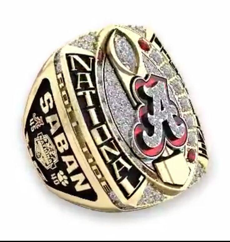 Alabama National Championship ring celebrating the 2015 season #Alabama…