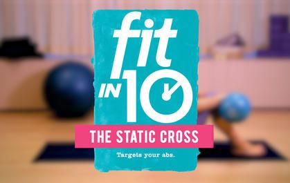 Fit In 10 30-day Belly Blast Static Cross ab exercise
