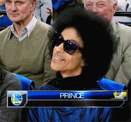 PAISLEY'S PRINCE - Prince at a Warriors basketball game at Oracle...