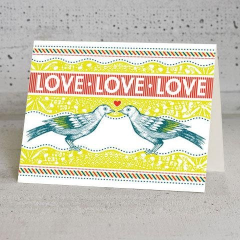 Love Birds Card Design