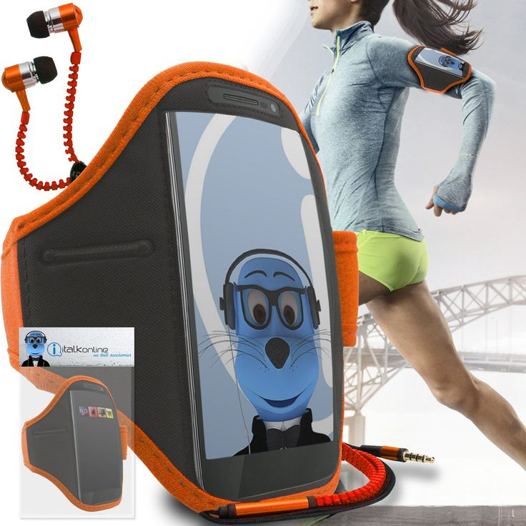 Orange Black Adjustable Sports GYM Jogging Running ArmBand Case Cover with 3.5mm Zip Style Headphones For Meizu U10. Total protection and convenience for your Meizu U10 when exercising. Adjustable Velcro Armband gives you the versatility of carrying your Meizu U10 in a variety of ways. Built in small pocket for money, keys, earphone or coins, Includes colour matching ZIP 3.5mm headphones. Armband is made from a soft neoprene type waterproof material with a clear front face, offering...