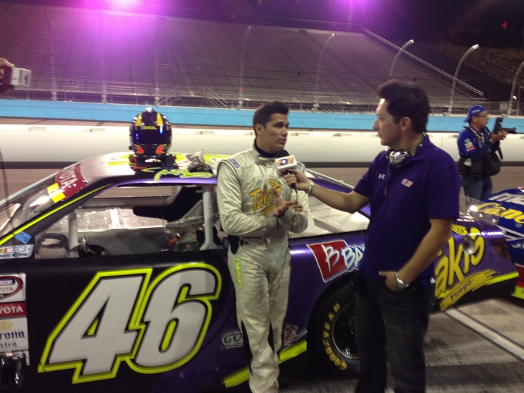 Moments before putting the pedal to the metal!! Shout out to Irwin Vences, the man behind the wheel of the Takismobile!! –NASCAR MEXICO TOYOTA SERIES 120, Phoenix International Raceway