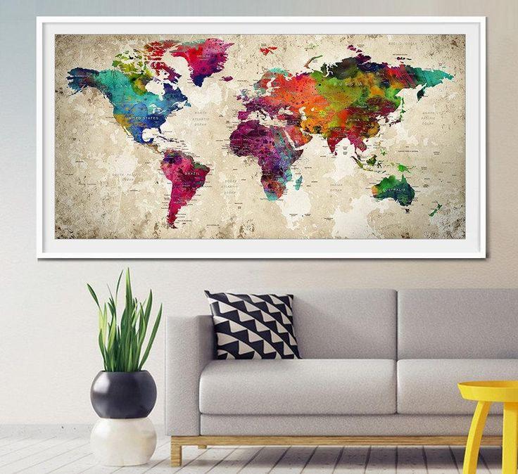 Travel Map Wall Art