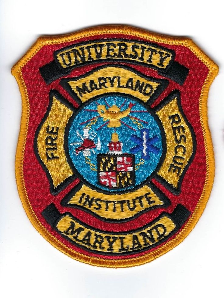 University of Maryland MD Fire Rescue Institute patch - NEW!