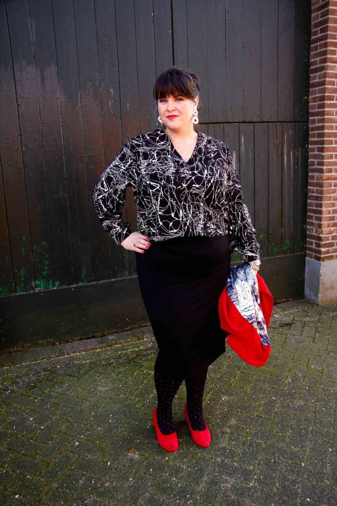 x-two.red, rode blazer, grote maten, plus size, wondervolle mode