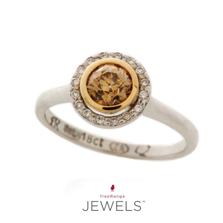 Not that we need another reason to be smiling on a Friday afternoon, but this Fancy Yellow Diamond in a Yellow Gold tube setting with a Halo of Diamonds has us grinning for ear to ear.  Shop www.freerangejewels.co.za  #customdesign #handmade #jewellery #capetown #southafrica