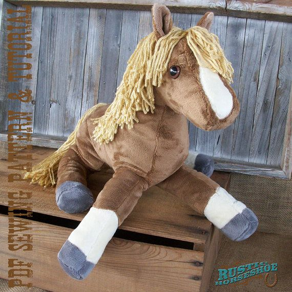 Plush Horse Softie Sewing Pattern and Tutorial Rustic