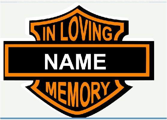In Loving Memory Harley Davidson Car Decal.