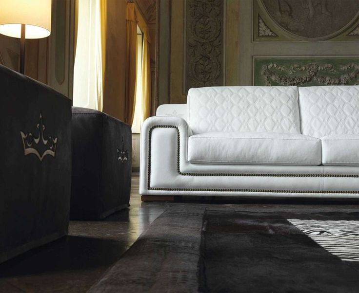 Upholstered Leather Sofa MAJESTIC   Formenti