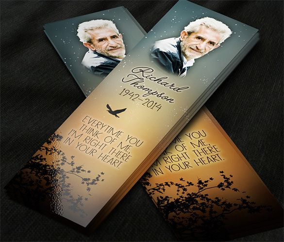 27 best images about memorial bookmarks w prayer poem or for Funeral bookmarks template free